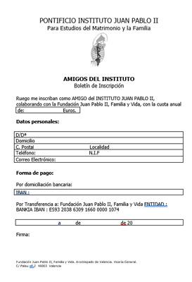 Descargar Boletín Inscripción